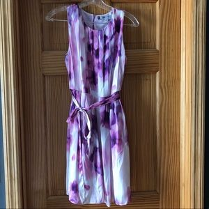 Beautiful Purple Abstract Floral Dress- Size 6